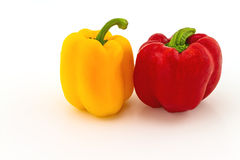 Красочный свежего красного и желтого сладостного болгарского перца (capsicum) Стоковые Фотографии RF