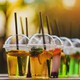 Красочный свежий лимонад Стоковая Фотография