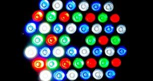 Красочный свет приведенный на предпосылке Стоковая Фотография