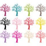 Красочный силуэт дерева Стоковая Фотография