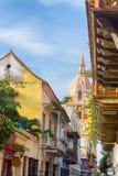 Красочный собор Cartagena стоковое фото