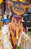 Красочный совершитель в фестивале Kon животиков Phi, Loei маски призрака, Таиланд стоковые фото