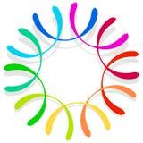 Красочный спирально конструируйте элемент, мотив конспекта геометрический, symb Стоковая Фотография