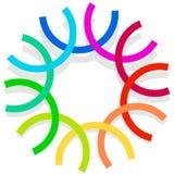 Красочный спирально конструируйте элемент, мотив конспекта геометрический, symb Стоковые Фото