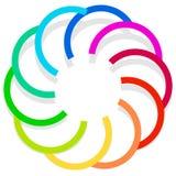 Красочный спирально конструируйте элемент, мотив конспекта геометрический, symb Стоковые Фотографии RF