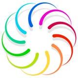 Красочный спирально конструируйте элемент, мотив конспекта геометрический, symb Стоковые Изображения