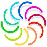 Красочный спирально конструируйте элемент, мотив конспекта геометрический, symb Стоковое Изображение RF