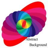 Красочный спиральный сходиться к центру Эллиптический элемент дизайна иллюстрация вектора
