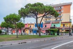 Красочный среднеземноморской взгляд Италия Европа улицы домов Стоковые Фото