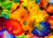 Красочный стеклянный потолок Стоковое фото RF