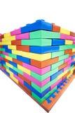 Красочный стены блока кирпича Стоковое Изображение