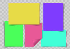 Красочный стикер на прозрачной предпосылке иллюстрация вектора