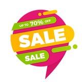 Красочный стикер ценника знамени дизайна продажи пузыря речи Стоковые Изображения