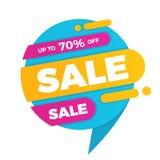 Красочный стикер ценника знамени дизайна продажи пузыря речи Стоковое Изображение