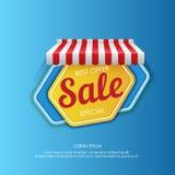 Красочный стикер шестиугольника повышая продажу Стоковые Изображения RF