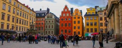 Красочный Стокгольм стоковое фото rf
