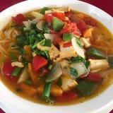 Красочный суп лапши стоковые изображения