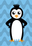 Красочный счастливый пингвин Стоковое фото RF
