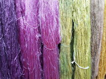 Красочный сырцового silk потока Стоковое фото RF