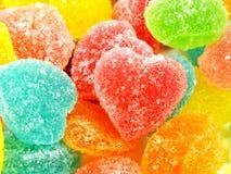 Красочный сладостный конец формы сердца студня вверх Стоковые Изображения RF