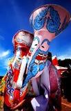 Красочный тайский фестиваль - животики Khon Phi Стоковые Фотографии RF