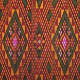 Красочный тайский шелк handcraft конец поверхности половика стиля peruvian вверх по больше этого мотива & больше backgro перуанск Стоковые Изображения