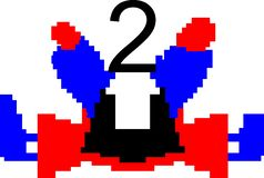 Красочный танцуя компьютер предпосылки конспекта номера произвел изображение и дизайн обоев иллюстрация штока