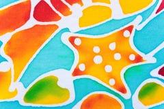 Красочный ткани напечатанной картиной Стоковое Изображение RF