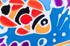 Красочный ткани напечатанной картиной Стоковые Фото