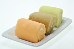 Красочный торт крена варенья Стоковые Фотографии RF