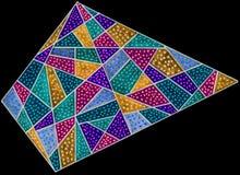 Красочный трапецоид ручки геля стоковое изображение rf