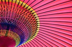 Красочный традиционный японский зонтик Стоковые Изображения