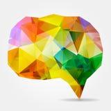 Красочный триангулярный геометрический пузырь речи бесплатная иллюстрация