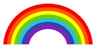 Красочный ультрамодный значок радуги также вектор иллюстрации притяжки corel стоковое фото