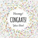 Красочный ультрамодный дизайн шаблона карточки Congrats Стоковое Фото