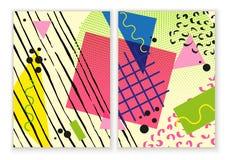 Красочный ультрамодный нео плакат Мемфиса геометрический Современный абстрактный плакат дизайна, крышка, дизайн карточки Стоковые Фото