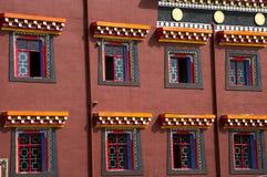 Красочный фасад Тибета, Kham Стоковое фото RF