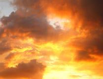 Красочный фиолетовый заход солнца Стоковое Изображение