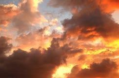 Красочный фиолетовый заход солнца Стоковые Фотографии RF