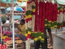 Красочный флористический дисплей в Tamil Nadu Стоковые Изображения RF