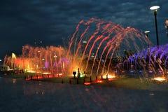 Красочный фонтан Стоковое Изображение RF