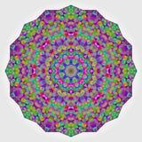Красочный фон калейдоскопа круга Цветок мозаики абстрактный Стоковые Изображения