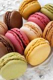 Красочный француз Macarons стоковые изображения rf