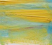 Красочный ход щетки акварели над белой предпосылкой Стоковое фото RF