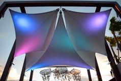 Красочный холст под небом Стоковое Фото