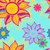 Красочный цветок безшовный Стоковая Фотография