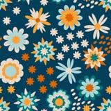 Красочный цветочный узор для детей иллюстрация вектора