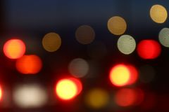Красочный цвет конспекта ночи bokeh предпосылки, запачканный defocused multi цвет освещает, абстрактная предпосылка bokeh света р Стоковое Изображение RF
