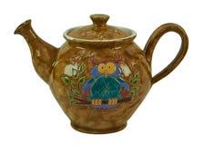 Красочный чай - глина гончарни handmade изолированная на белом backgro Стоковое фото RF