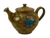 Красочный чай - глина гончарни handmade изолированная на белом backgro Стоковые Изображения